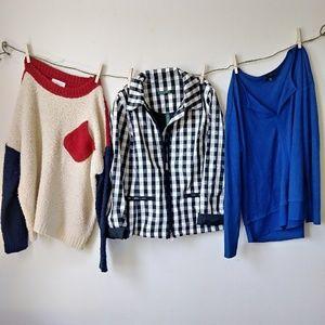 Lauren Ralph Lauren stripe white light jacket